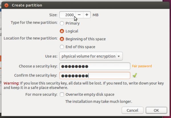 Ubuntu create LVM swap partition