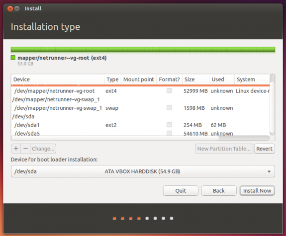 Default LVM partitions Ubuntu