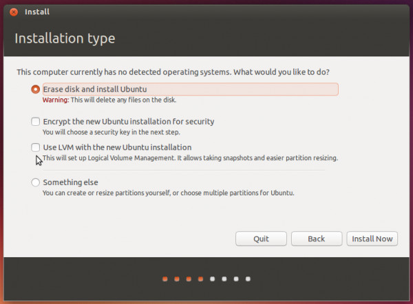 Automated partition methods Ubuntu
