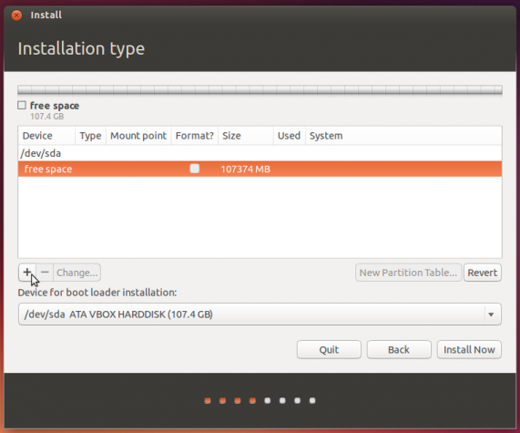 Create new partition table ubuntu linux
