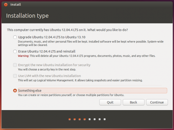 Ubuntu 13.10 something else