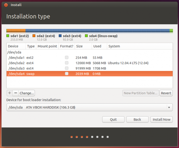 Ubuntu 13.10 advanced partition tool
