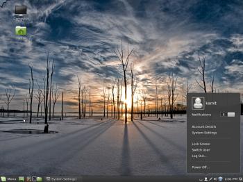 The Cinnamon desktop on Linux Mint 16 Cinnamon edition showing the user profile.