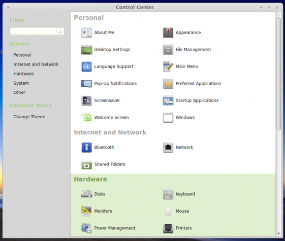 Linux Mint 16 MATE Settings