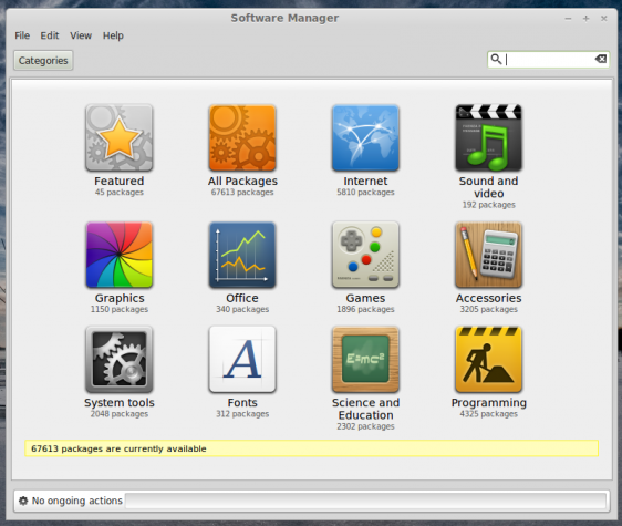 Linux Mint 16 Software Manager