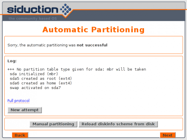 Siduction 2013.2 graphical installer