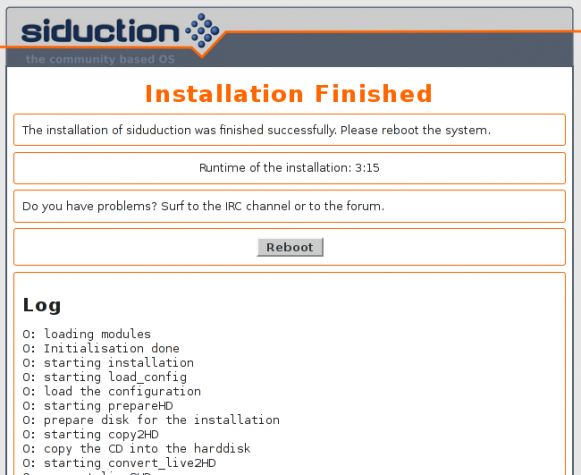 Siduction 2013.2 manual partition