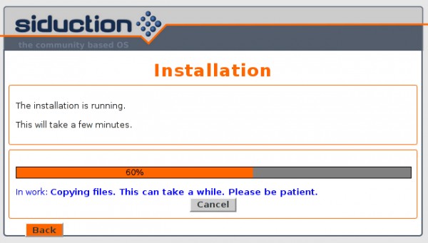 Siduction 2013.2 package installation