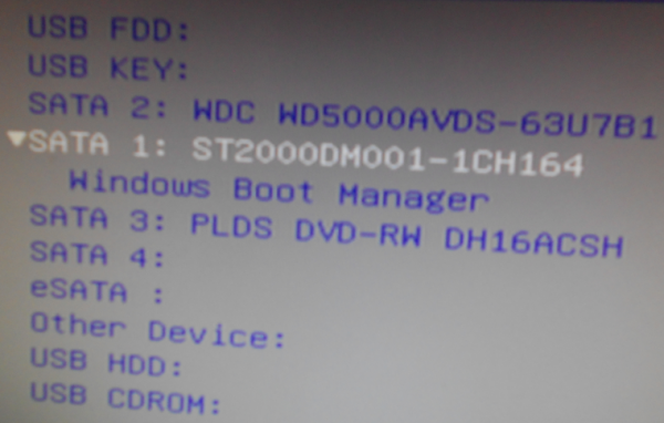 Lenovo IdeaCenter K450 boot priority