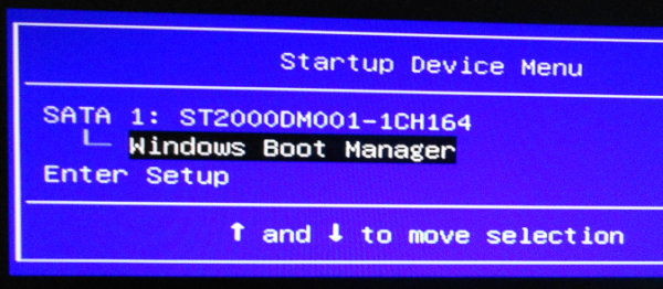 Lenovo IdeaCenter K450 boot menu