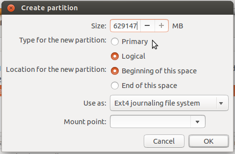 Ubuntu 13.10 partition editor