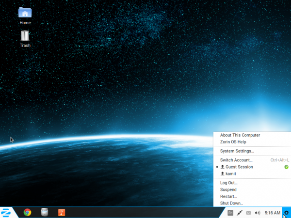 Zorin OS Core 8 screen shot preview