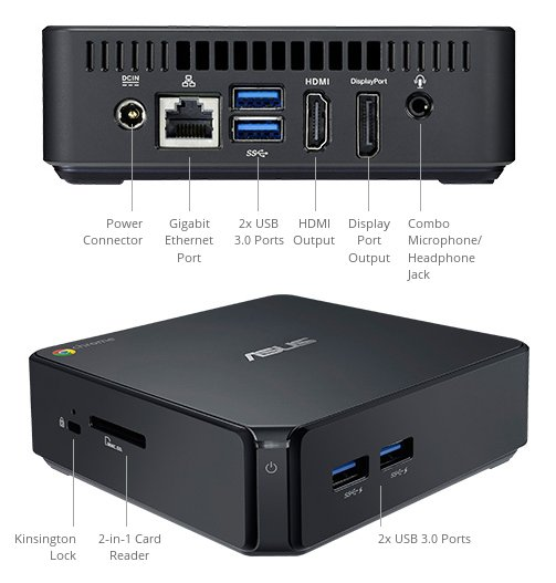 ASUS Chromebox, HP Chromebox and Google Chromebox for meetings