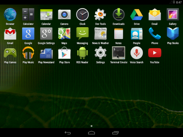 Android-x86 4.4 apps