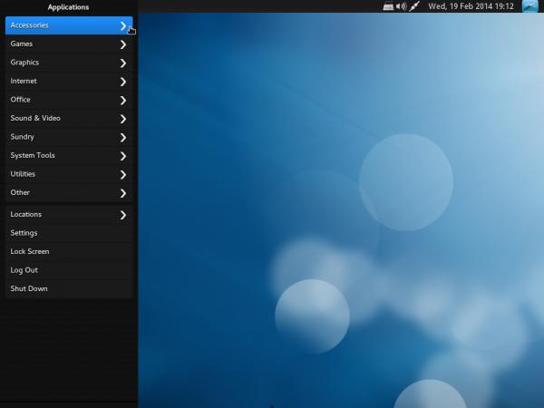 BlankOn 9.0 Desktop menu