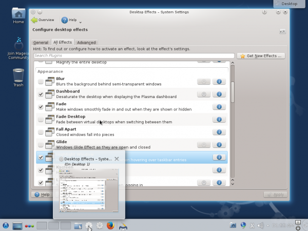 How to customize Mageia 4 KDE