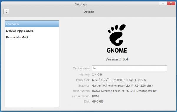GNOME 3.8.4