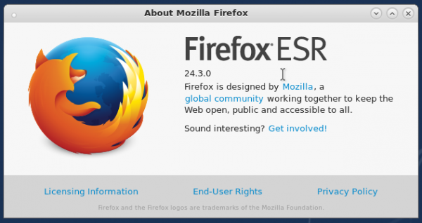 About Firefox ESR 24