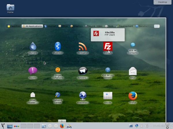 Takeoff fullscreen app launcher on Mageia 4 KDE