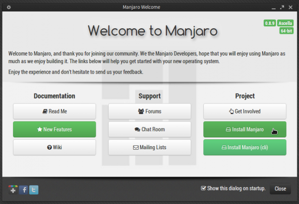 Manjaro 0 8 9 review – KDE and Xfce desktops | LinuxBSDos com