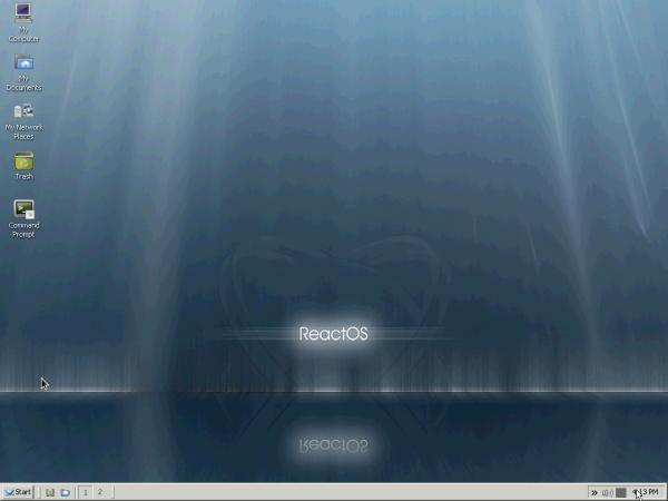 ReactOS Desktop workspace