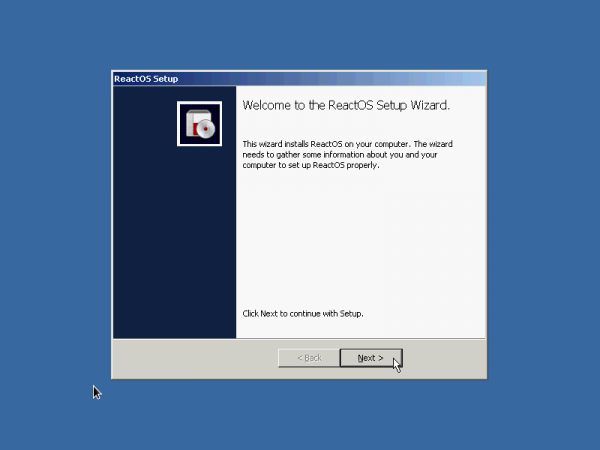 ReactOS second stage installer