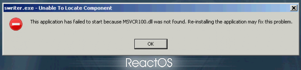 ReactOS LibreOffice crash