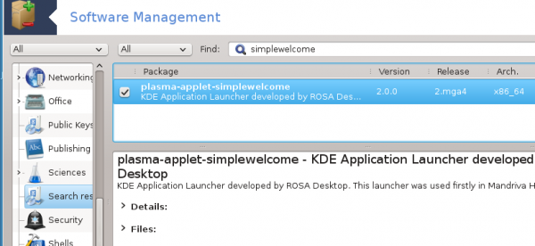 Install SimpleWelcome applet