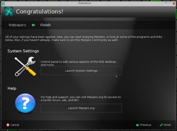Manjaro 0.8.9 KDE Turbulence