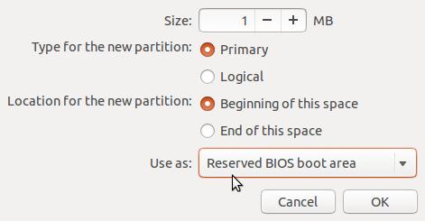 Ubuntu 13.10 create bios_