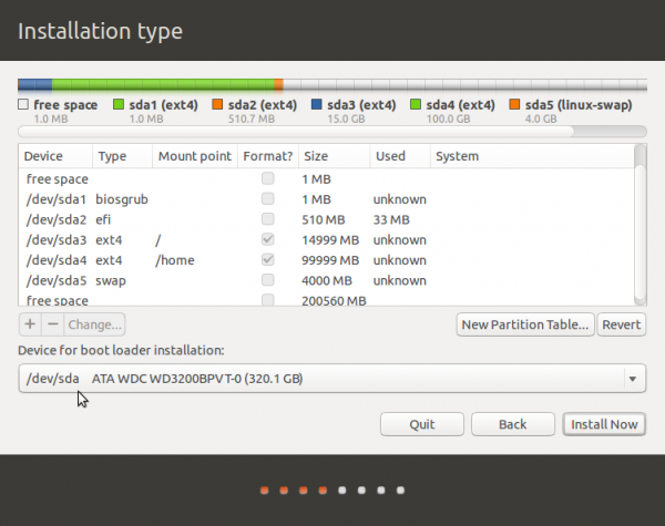 Ubuntu 13.10 GPT partitions