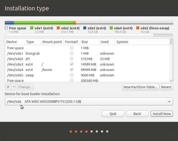 Ubuntu 13.10 GPT partitions