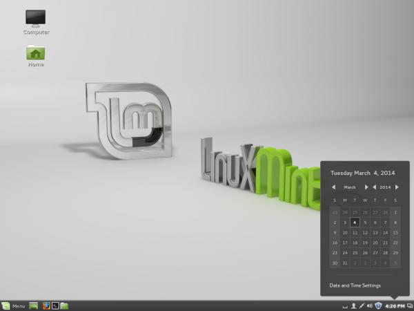 Linux Mint Debian Cinnamon desktop