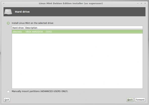 Linux Mint Debian (LMDE) HDD