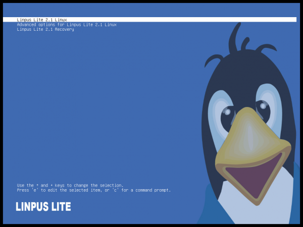 Linpus Lite 2.1 Boot Menu