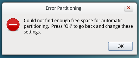 Linpus Lite 2.1 partition error