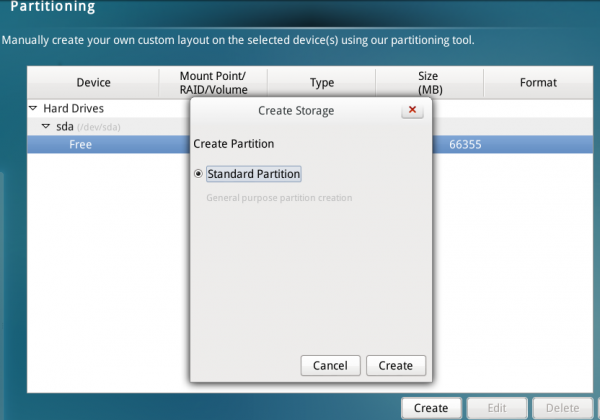 Linpus Lite 2.1 partition types