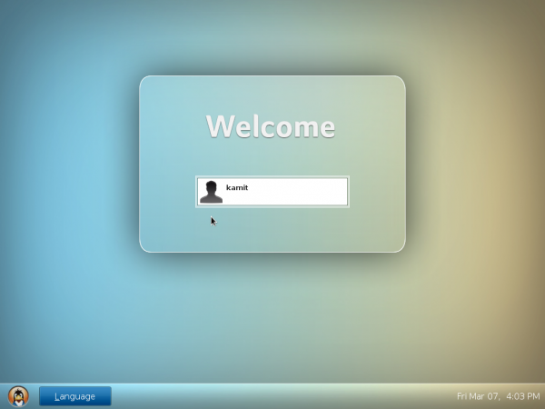 Linpus Lite 2.1 login screen
