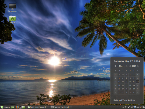 Linux Mint 17 Cinnamon desktop