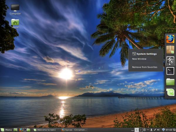 Linux Mint 17 Cinnamon CinnDock 2