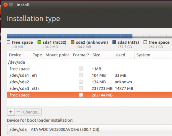 Ubuntu 14.04 EFI partitions