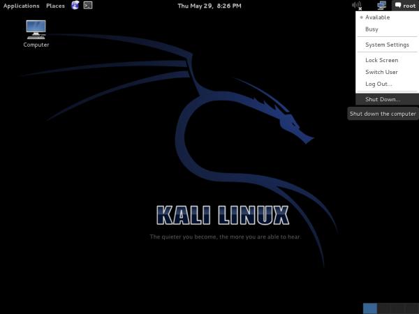 Kali Linux 1.0.7 Desktop