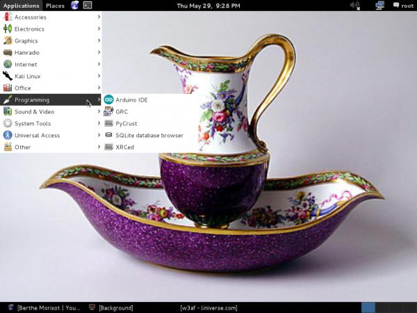 Kali Linux 1.0.7 programming IDE