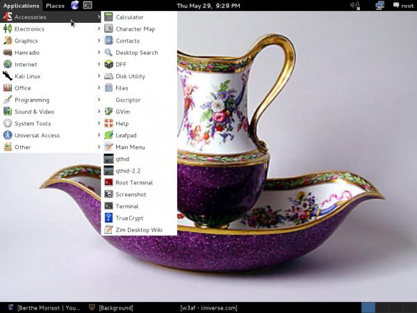 Kali Linux 1.0.7 accessories