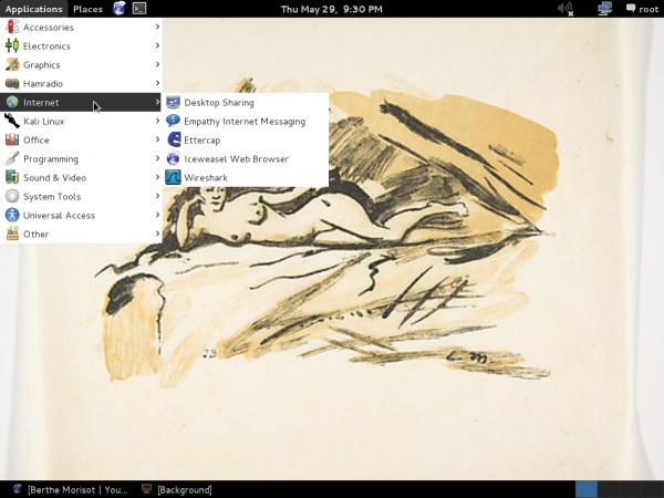 Kali Linux 1.0.7 Internet apps