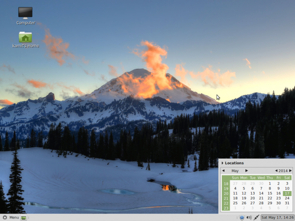 Linux Mint 17 MATE desktop