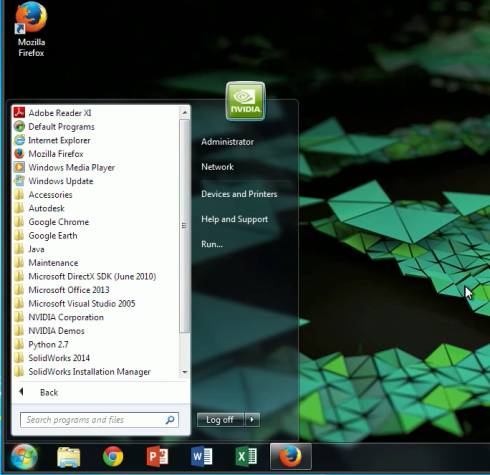 NVIDIA GRID Windows default apps