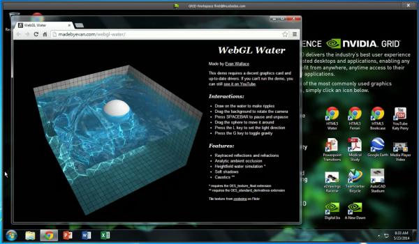 Test driving NVIDIA GRID Workspace (Windows client)  Linux client is