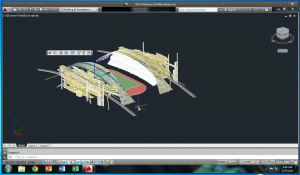 NVIDIA GRID 3D stadium