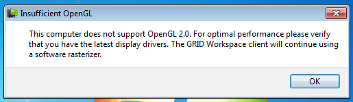 Test driving NVIDIA GRID Workspace (Windows client). Linux client is in the works